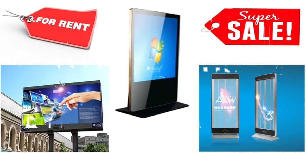 شاشات عرض للبيع